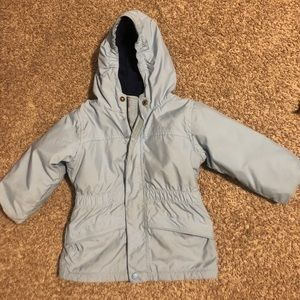 LL Bean Toddler Winter Coat 2T Light Blue Long